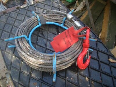 APPROX 10 METRE WIRE ROPE FOR TIRFOR MINIFOR ETC 7mm DIA 500KG SWL VAT INC SRA11