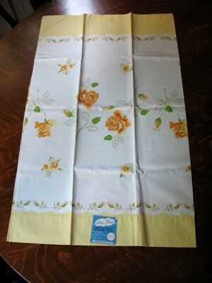 Vintage Grant Maid American Beauty Pillow Case Roses Never Used Original Tags!