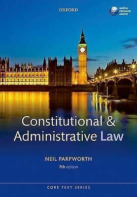 Constitutional and Administrative Law by Neil Parpworth (Paperback, 2012)