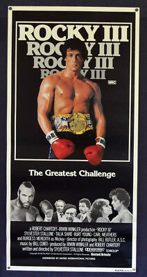 ROCKY III movie poster Daybill ORIGINAL RARE No Folds ROLLED Boxing Stallone