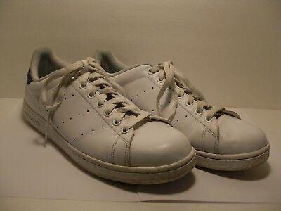 newest be804 dcd44 EUC ADIDAS STAN Smith Sneakers Tennis Shoes Mens 12 In White Black Leather  India