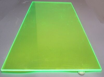 "9093 Transparent Green Acrylic Sheet 1/4"" Thick 12"" x 24"""