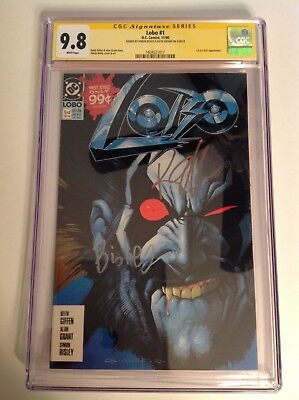 CGC SS 9.8 Lobo #1 signed by Keith Giffen & Simon Bisley 1990 White pages