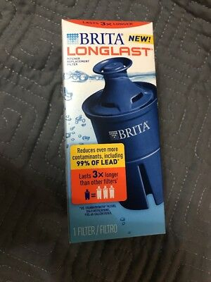Brita Longlast Replacement Water Filter for Pitchers (Good for 120 Gallons) New