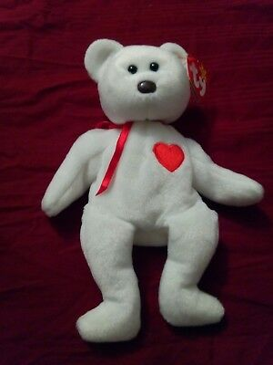1f67492e772 VALENTINO 1993 TY Beanie Baby with Tag Errors   Brown Nose Preowned Bear