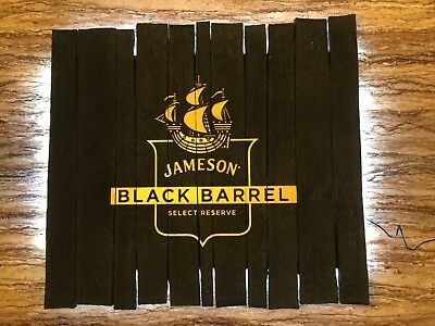 Jameson Irish Whiskey Black Barrel charred wood look LED bar light sign MAN CAVE