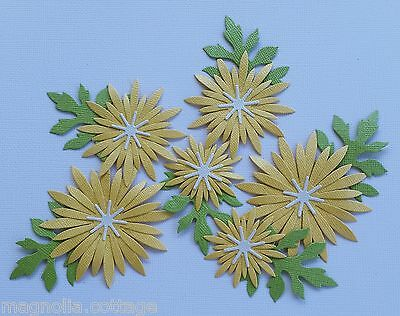 Choice of Colour...Large Daisy Die Cuts x 6 ..Scrapbooking Card/Making