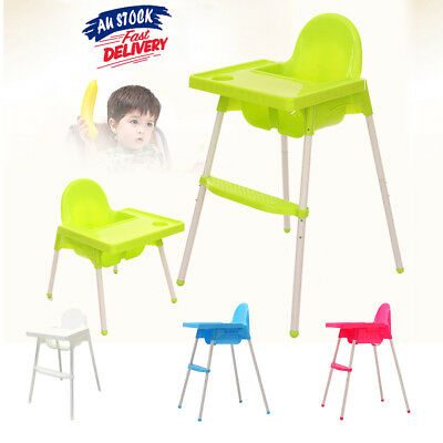 Adjustable High Chair Childcare Child Eating Table Seat Baby Feeding Highchair