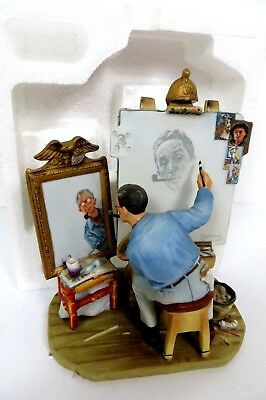 "Norman Rockwell Figurine ""Self Portrait"" RW-27 Original Box 1978,Never Displayed"