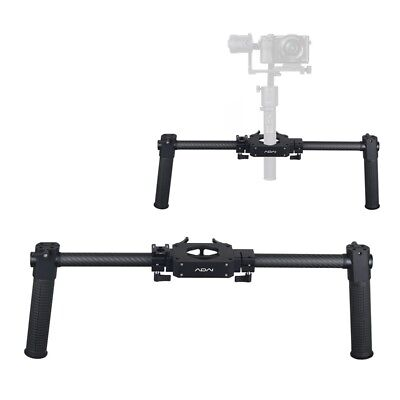 Top Extended Handle Dual Handheld Grip Bracket Kit Black for Zhiyun Crane 2