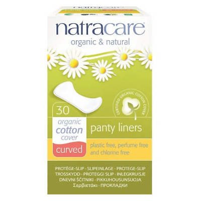 Natracare Panty Liners Curved ~ 30 Panty Liners