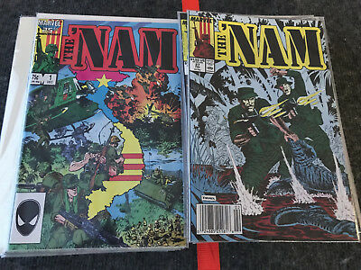THE NAM Marvel 1986 Lot of 57 Issues # 1 - 56 &1st and 2nd Printing of Issue # 1