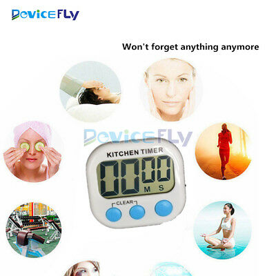 Digital LCD Kitchen Cooking Timer Count Down Up Electronic Alarm Clock Magnetic