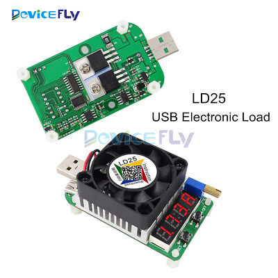LD25 Electronic Load Resistor USB Interface Discharge Battery Test 25W Tester