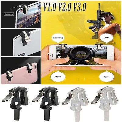 S4 Mobile Gaming Trigger Fire Button Aim Key L1R1 Shooter Controller PUBG V3.0