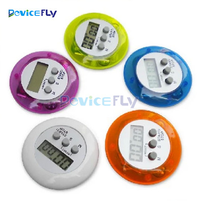 LCD Digital Mini Kitchen Cooking Timer Count Down Up Alarm Clock Loud Magnetic