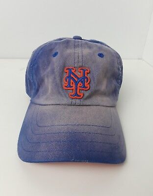 huge selection of f4771 8f5cd ... low price nike mlb distressed new york mets blue adjustable fan  merchandise baseball cap e2782 f72d1