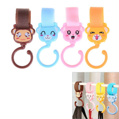 2PCS Multifunction Baby Stroller Hooks Pushchair Hanger Hooks For Kid StrollerJD