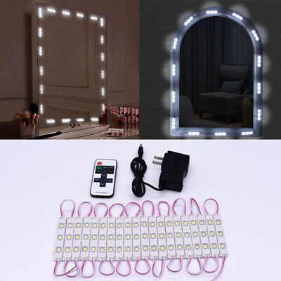 A set 20 LED Lights Strip Kit for Cosmetic Makeup Vanity Mirror +Remote Control