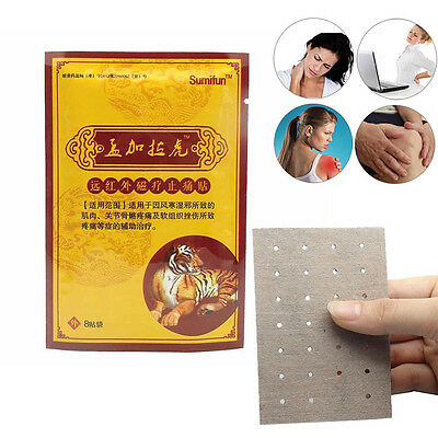 16Pcs Pain Relieving Herbal Plaster Patches Muscle-Relief Injury Heat Therapy AU