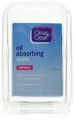Clean & Clear Oil Absorbing Sheets For Oily Skin, 50 Count (Pack of 6)