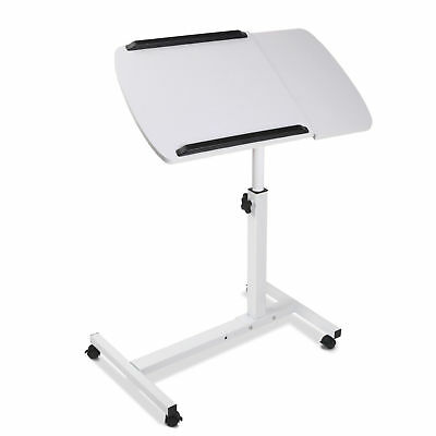 Portable Laptop Desk Stand Adjustable Notebook Computer Table Tray Bed White@HOT