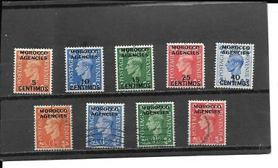 Great Britain Off In Morocco Stamps Between Sct#99//267 Cat Val $21.15