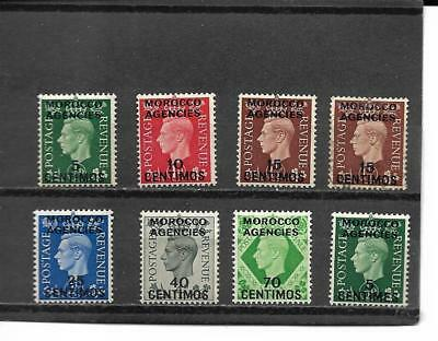 Great Britain Off In Morocco Stamps Between Sct#83/440 Cat Val $48.95