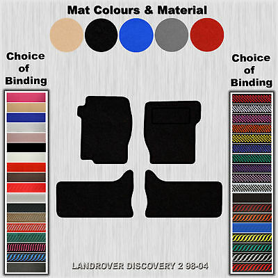 Tailored Velour Floor Mats For Landrover Discovery 2 98-04
