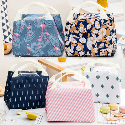 Storage Bag Pouch Durable Portable Insulated Thermal Cooler Bento Lunch Box Tote
