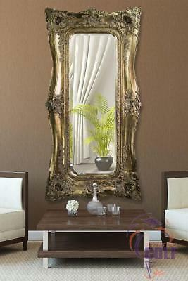 Extra Large Very Ornate Antique Gold Wall Mirror 6ft x 3ft