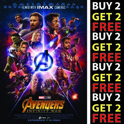 *NEW* AVENGERS INFINITY WAR MOVIE Poster A4 A3 A2 A1 300GSM HIGH QUALITY PRINT
