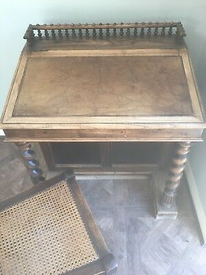 antique writing desk bureau and chair