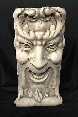 Laughing Face Corbel Bracket Shelf Architectural Accent Home Decor