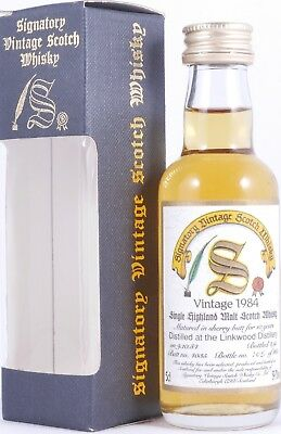 Linkwood 1984 10 Years Sherry Butt #4035 Signatory Scotch Whisky 59,7% Miniatur