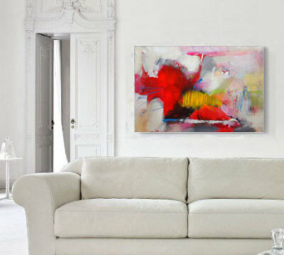 Original abstract acrylic painting, Large wall art canvas, Modern Art Abstract