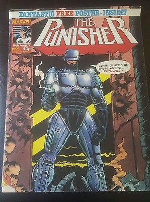 THE PUNISHER #3 1989 - Marvel UK Robocop *NO POSTER*