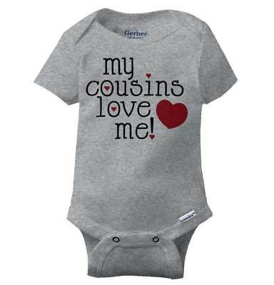 My Cousins Love Me Gerber Onesie | Family Matching Cute Gift Baby Romper