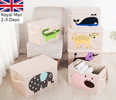 Kids Toy Animal Storage Box Portable Fabric Collapsible Organiser Children's