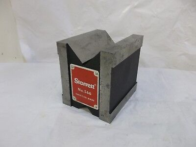 "STARRETT No. 566 DUAL VEE MAGNETIC V-BLOCK 1-3/4""/44mm CAPACITY"