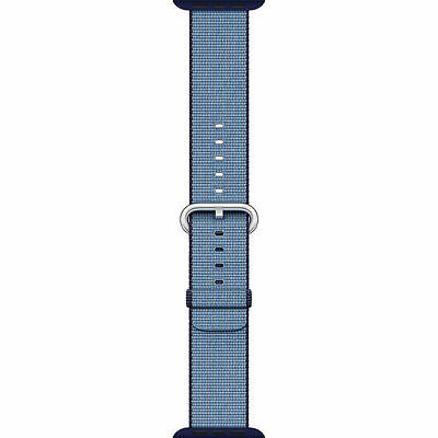 Genuine Apple Watch Woven Nylon Band - MP232AM/A - (42mm, Navy/Tahoe Blue) - VG