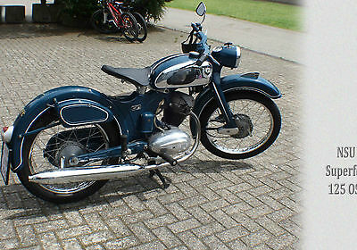 Postkarte > Oldtimer -Bike-> NSU Superfox 125 <