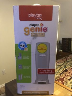"""New open box"" Playtex Diaper Genie Expressions Customizable Starter Refill Disp"