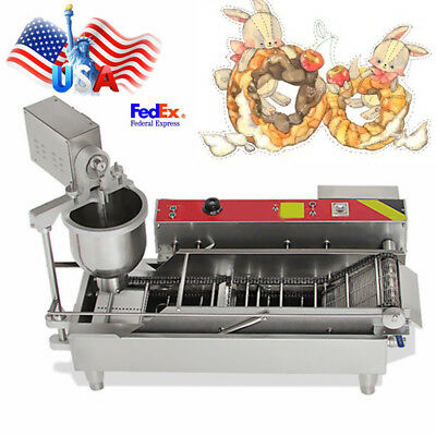 #304 Stainless Automatic Doughnut Donut Ball Maker Machine Fryer 3 Size Outlet