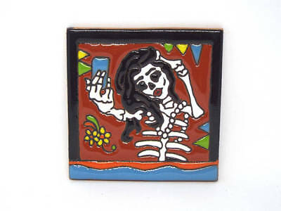 Selfie Humor Meme, Catrina Selfie, Day of the Dead, Talavera Tile 4x4 Backspalsh