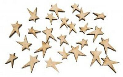 Creative Expressions Laser Cut MDF Mini Star Accessory Kit 25 Pieces CEMDFMINIST