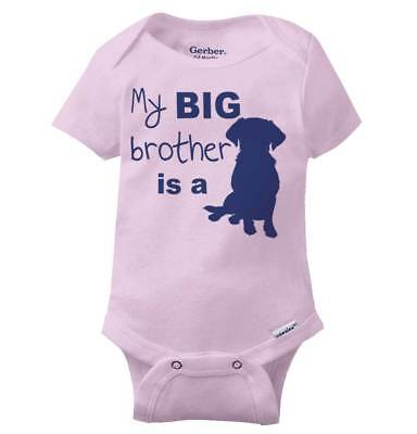 Baby Shower Gift Cute Pet Lovers Baby Boy Onesie My Big Brother is a Dog
