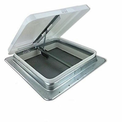 """Rv Roof Vent Non Powered  14""""  Steel Frame White Lid Camper Cargo Marine"""
