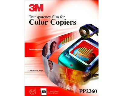 3M Transparency Film for Color Copiers - 50 Sheets - pp2260 - NEW