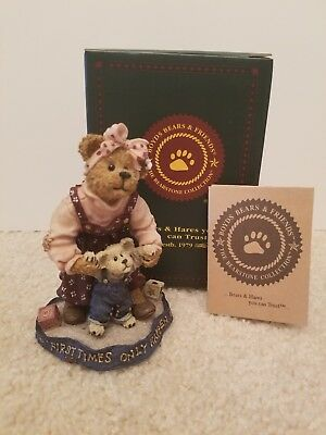 """Boyds Bears Resin,  """"Momma with Taylor...First Steps"""", #227768"""